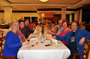 TEMA-gjengens langbord på hotell El Tope