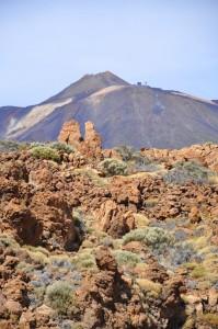 Spanias høyeste fjell Teide, 3718 moh.